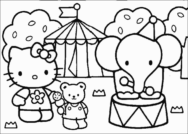 hello kitty da colorare : colorare.ploo.fr
