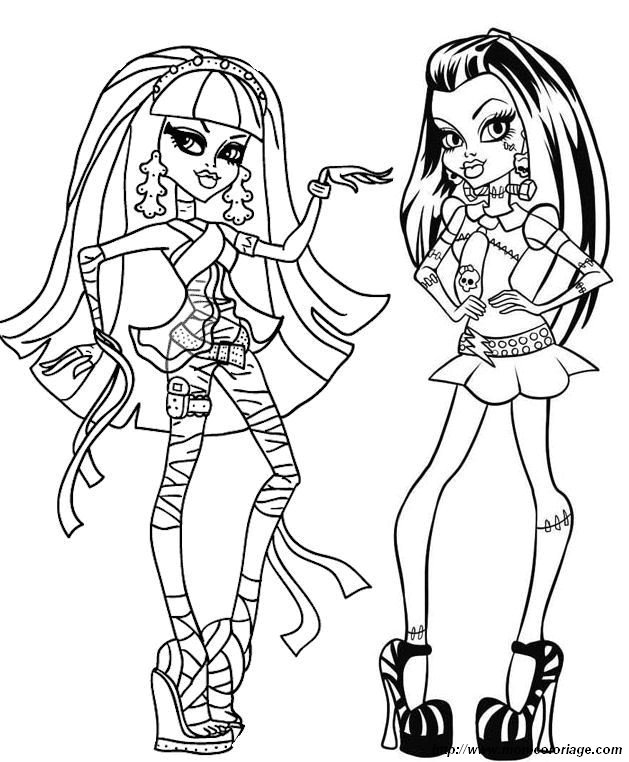 Monster high da colorare - Dessin de barbie facile ...